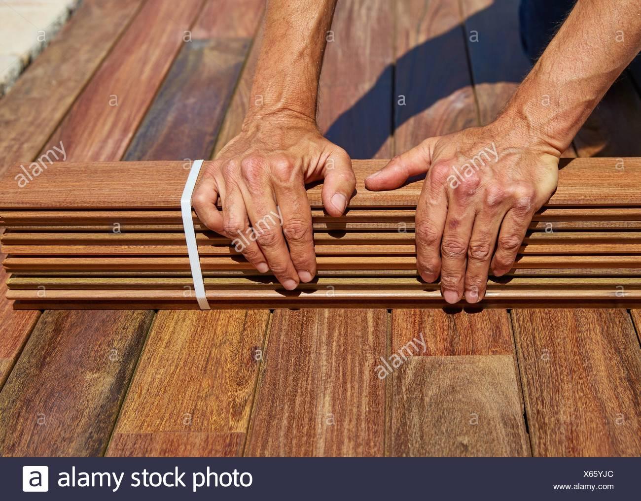 Ou Acheter Bois Ipe l'installation de lame terrasse ipe avec carpenter mains