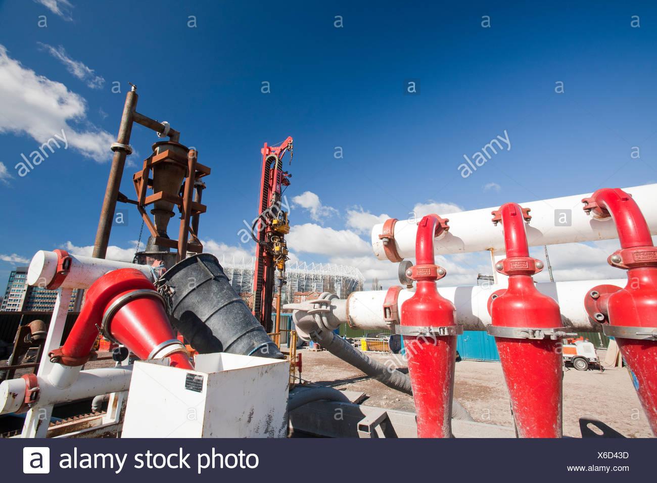Un projet d'énergie géothermique par Newcastle University, financé par le ministère de l'énergie et du changement climatique. Photo Stock