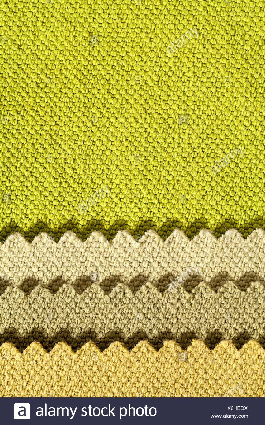 Composition de bandes de couleurs de tissu de coton dentelée Banque D'Images