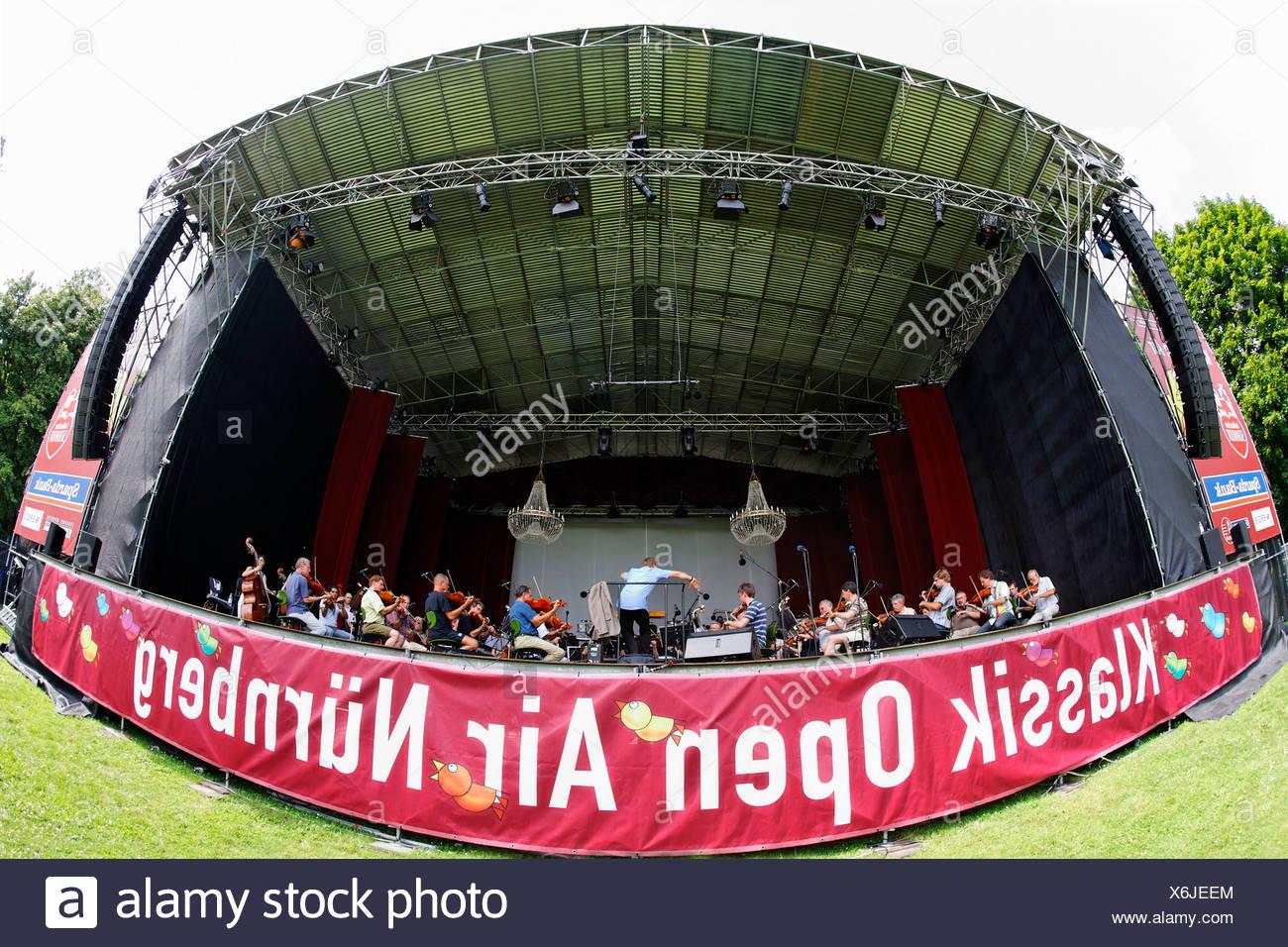 Klassik Open Air, la pratique, l'Orchestre symphonique de Nuremberg, stade, Luidpoldhain, motifs de Nuremberg, Nuremberg, au franc Banque D'Images
