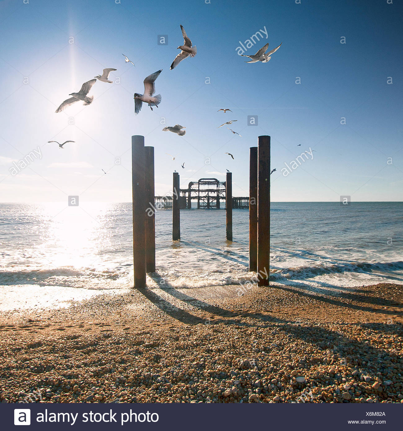 Brighton West Pier, East Sussex, Angleterre, Royaume-Uni Banque D'Images