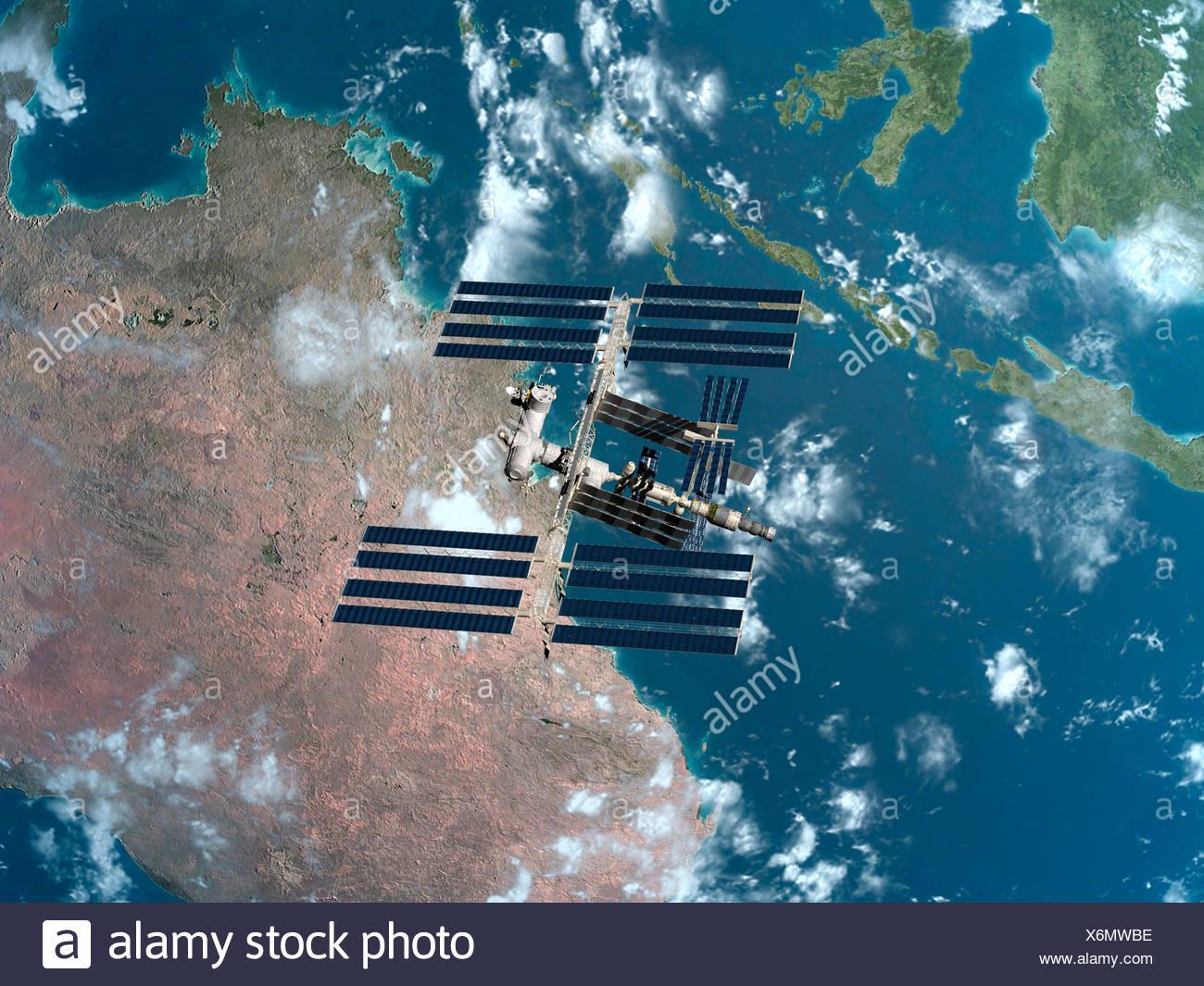 Station spatiale internationale, artwork Photo Stock