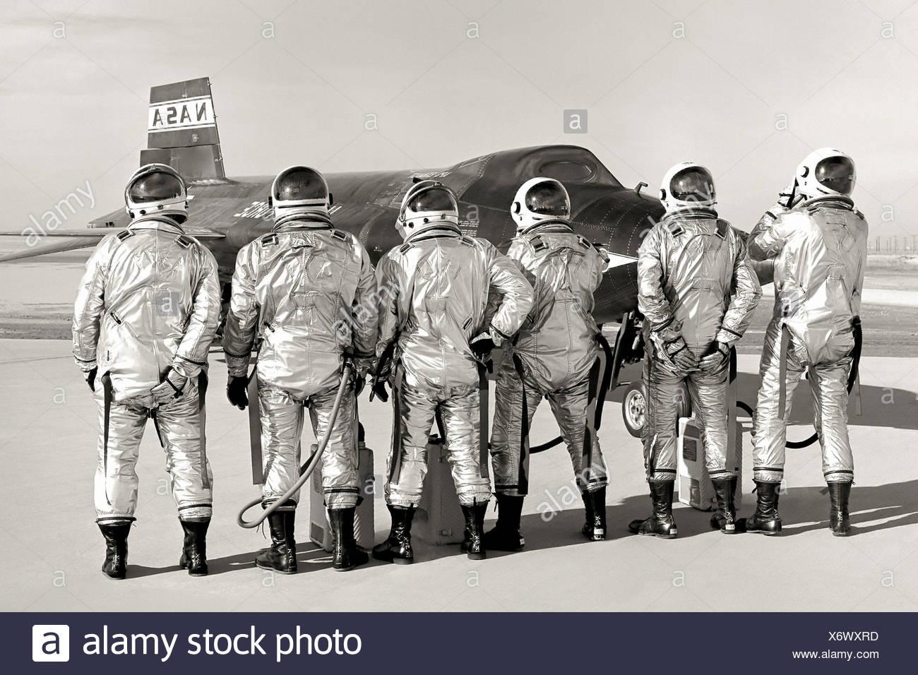 X-15 et pilotes Photo Stock