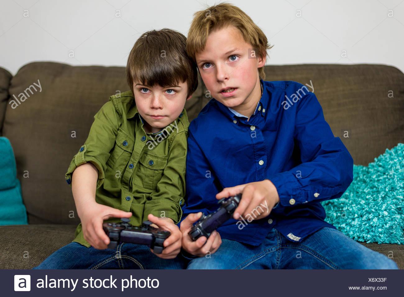 Le jeu de tournoi de jeu Photo Stock