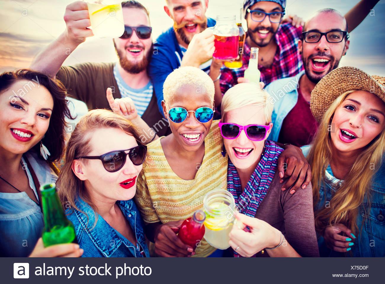 Joyeuse célébration Enjoying Party Concept Bonheur Loisirs Photo Stock