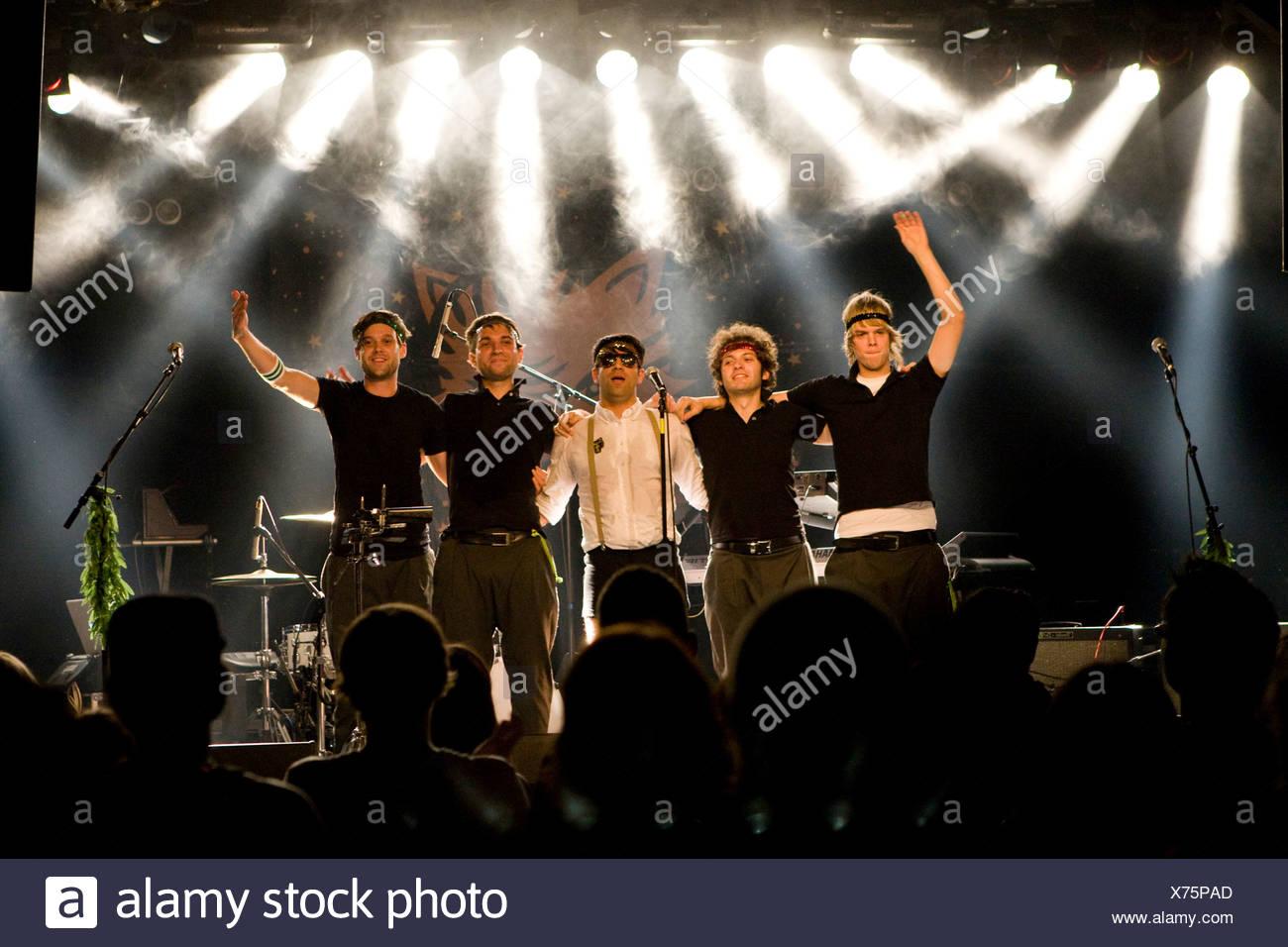 Le groupe allemand Tigre timide vivent dans la salle de concert Schueuer, Lucerne, Suisse Photo Stock