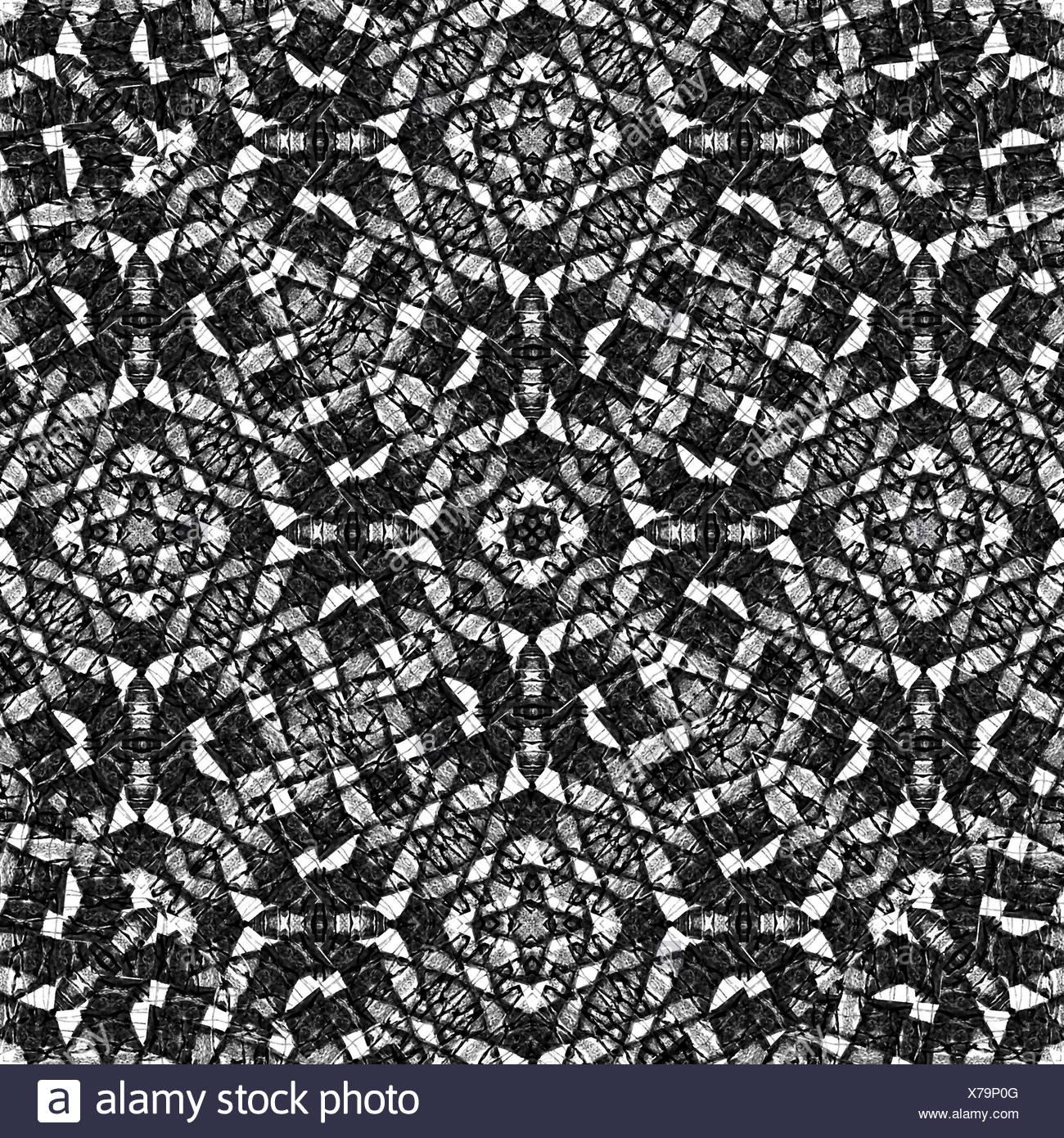 Noir et blanc motif géométrique ethnique photo stock