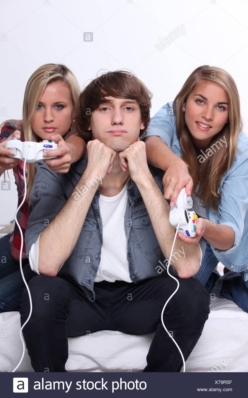 Nu les adolescents vidéo