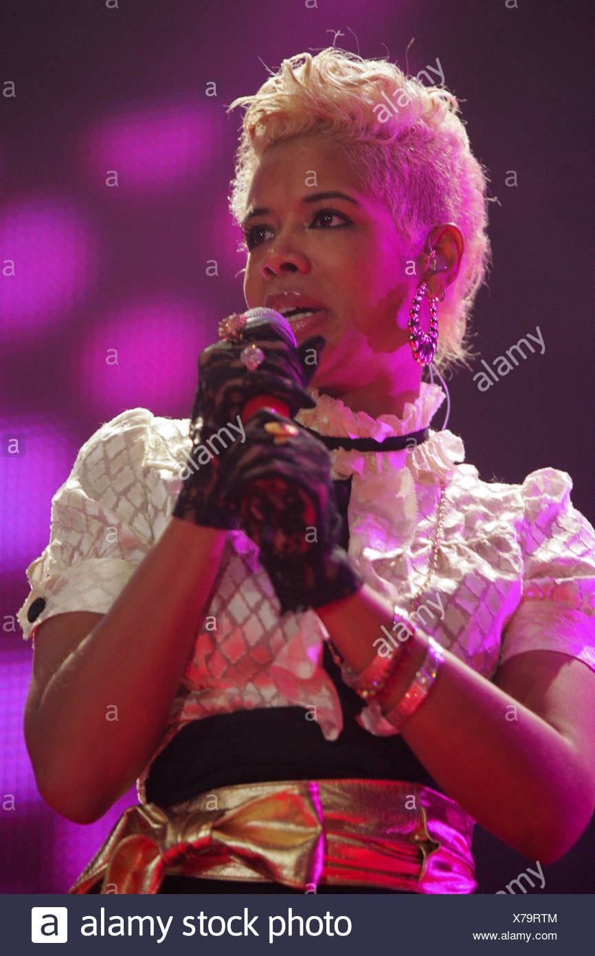 Kelis Rogers NOUS, hip-hop et R&B, Live at Energy Stars for free dans le Hallenstadion de Zurich, Suisse Photo Stock
