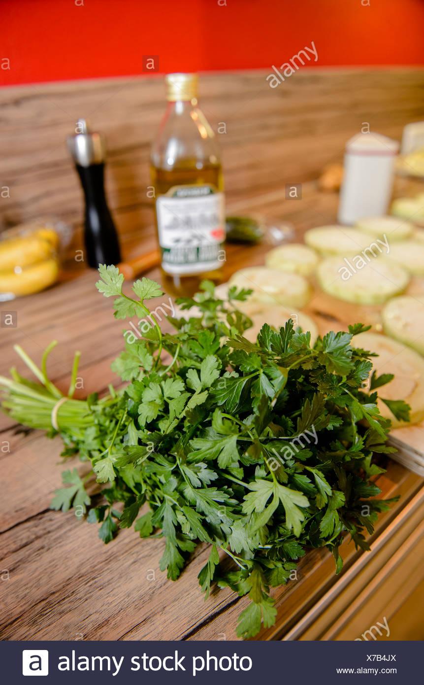 Bouquet de persil ingrédients de cuisine, Photo Stock