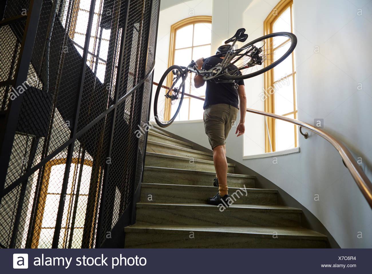 La Suède, l'exercice cycliste vélo sur mesures Photo Stock
