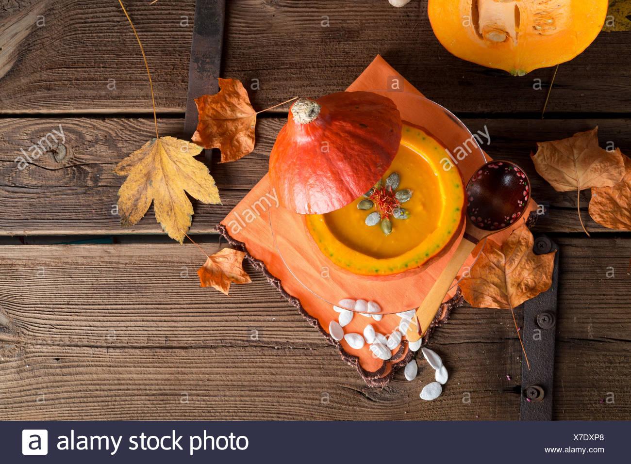 soupe de potiron Banque D'Images