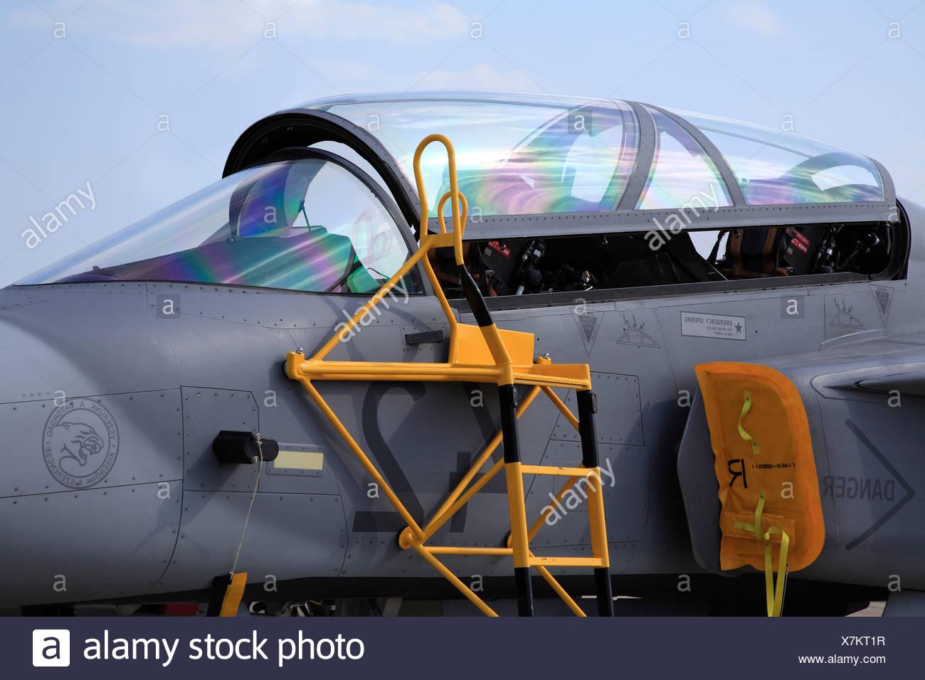 Poste de pilotage, d'avions tactiques Photo Stock