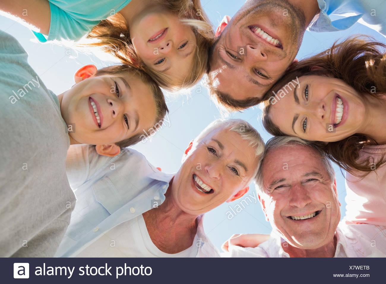 Multi generation family Smiling Photo Stock