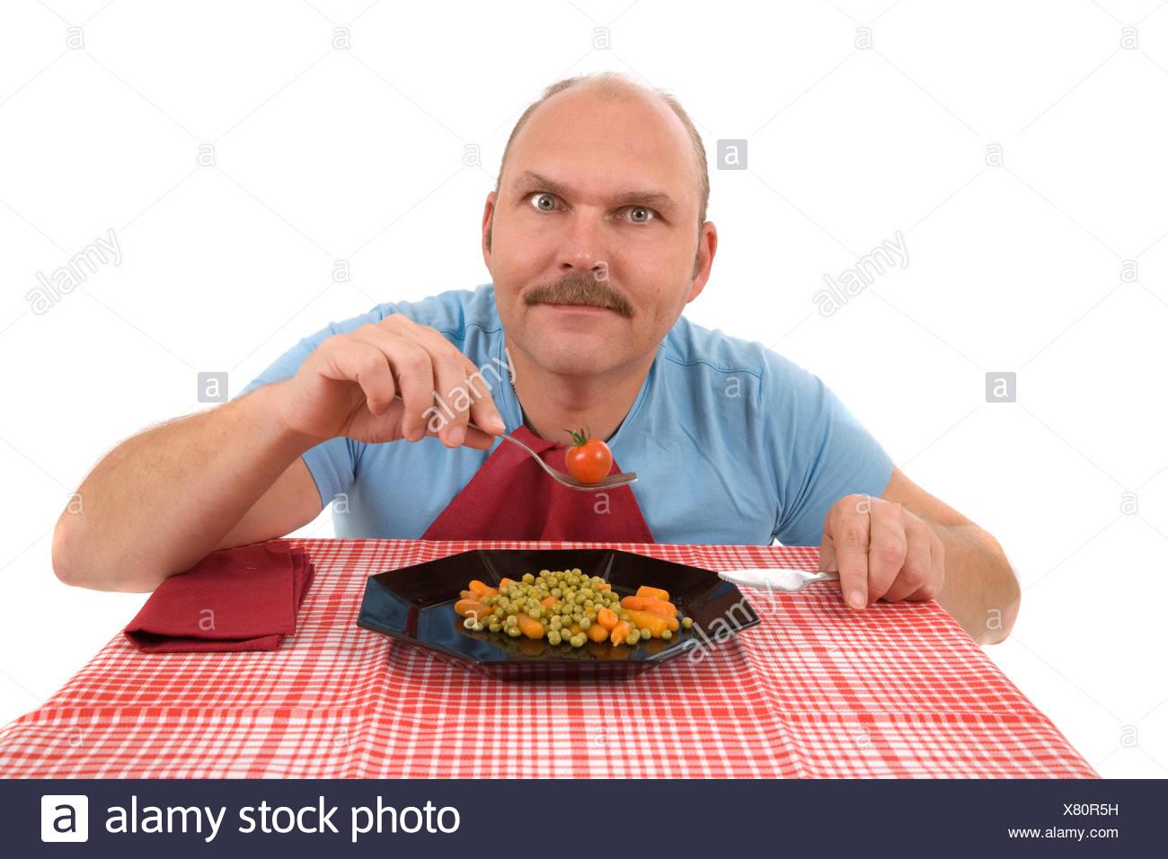 Obsédé par son régime alimentaire Photo Stock