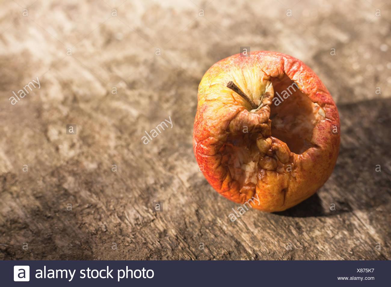 Pomme pourrie Banque D'Images
