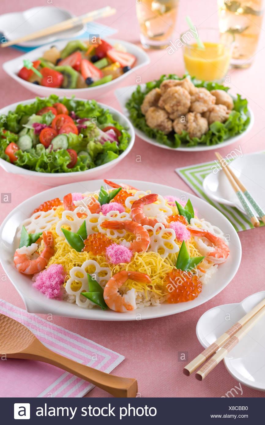 Chirashizushi Photo Stock