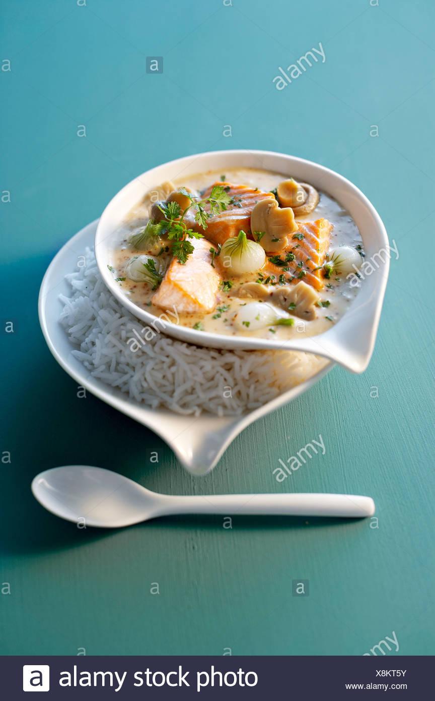 Ragoût de saumon Banque D'Images