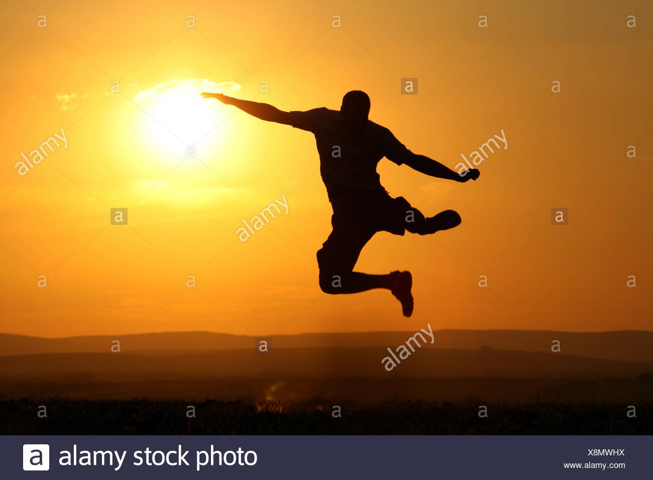 Vitalité,saut,jumping Photo Stock