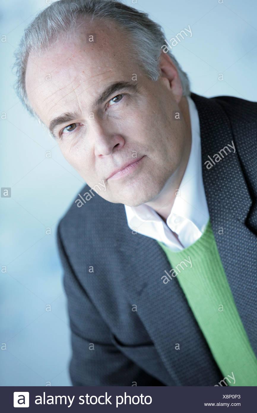 Portrait d'un homme d'âge moyen Photo Stock