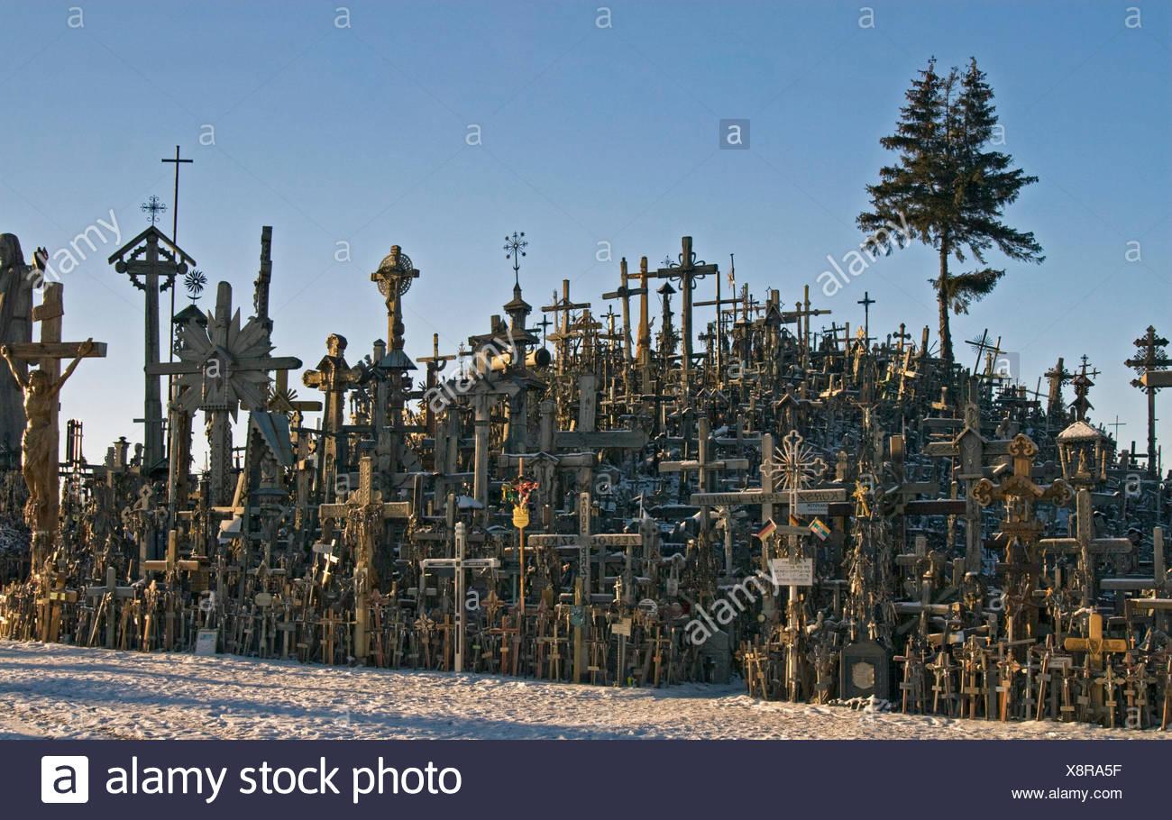 Crois Lituanie lieu de pèlerinage Banque D'Images