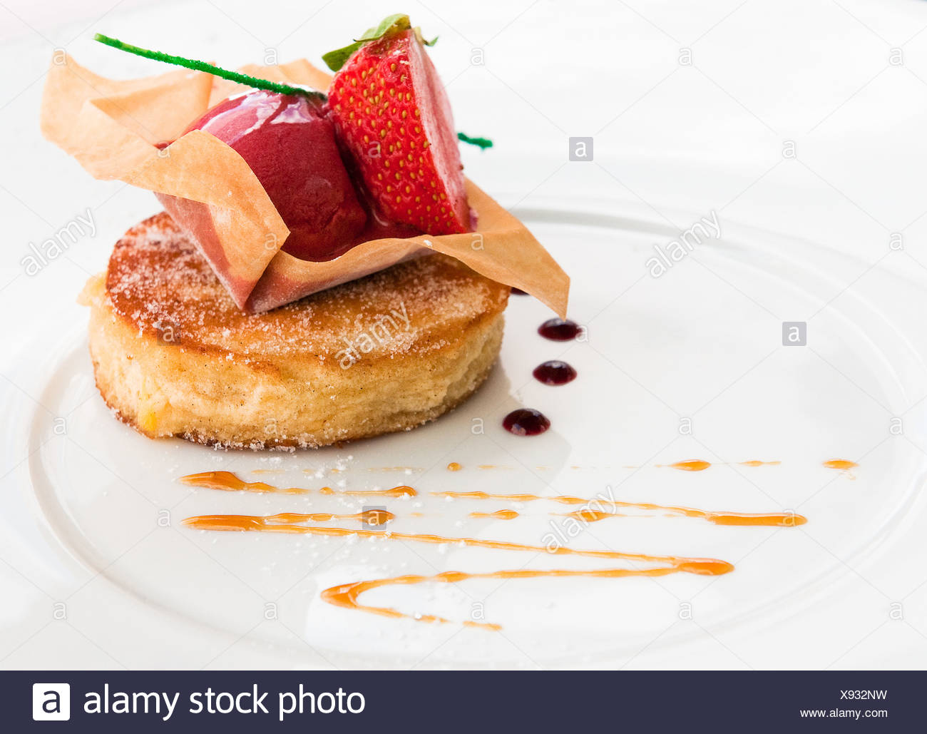 dessert de fantaisie Photo Stock