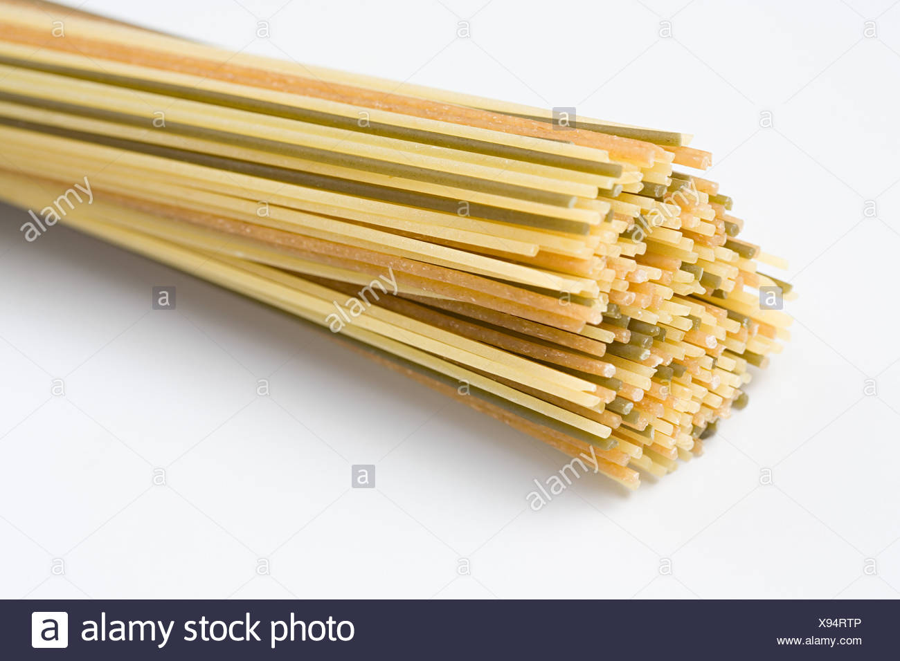 Spaghetti Tricolore Photo Stock
