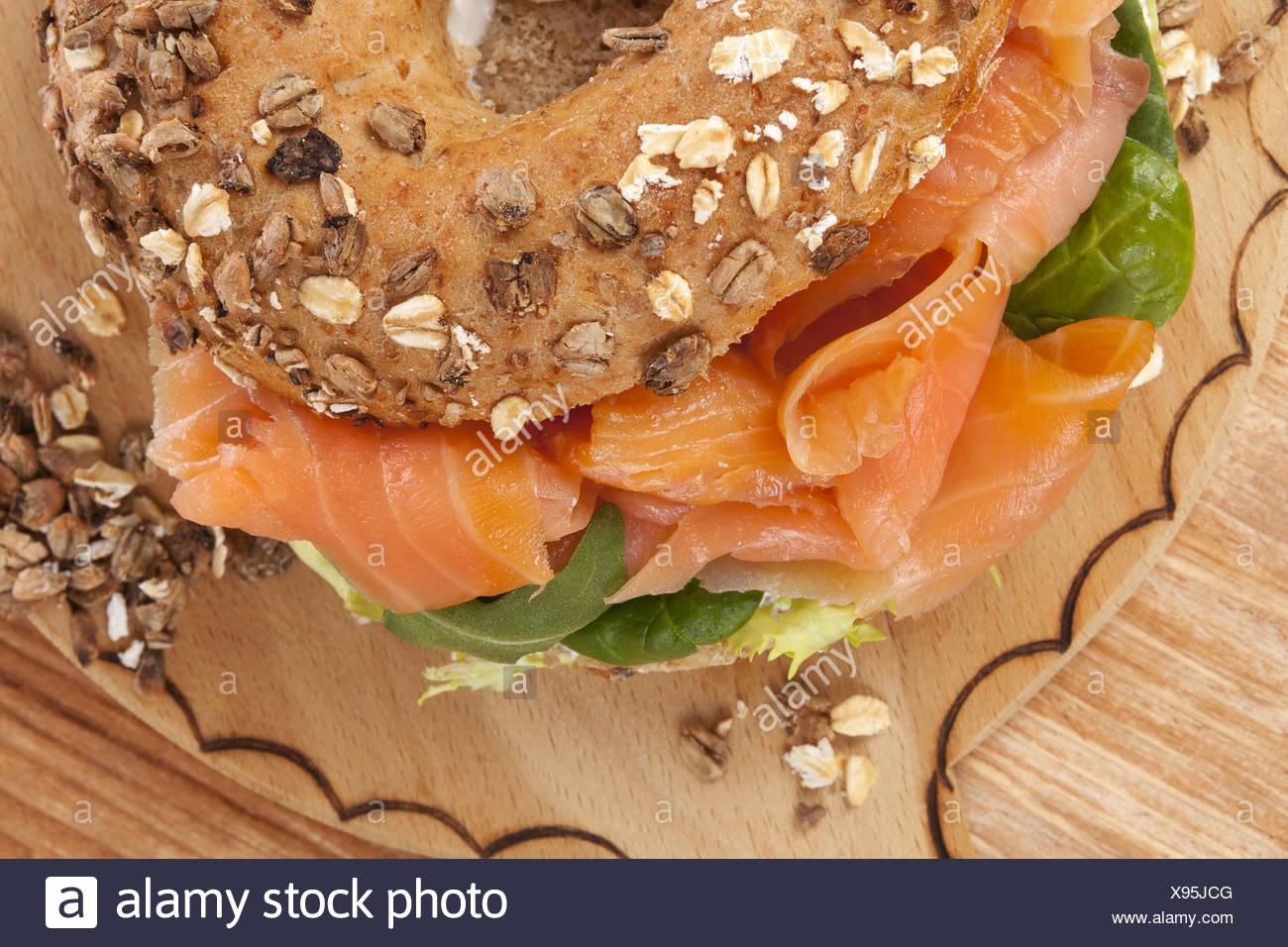 Bagel culinaire de manger. Photo Stock
