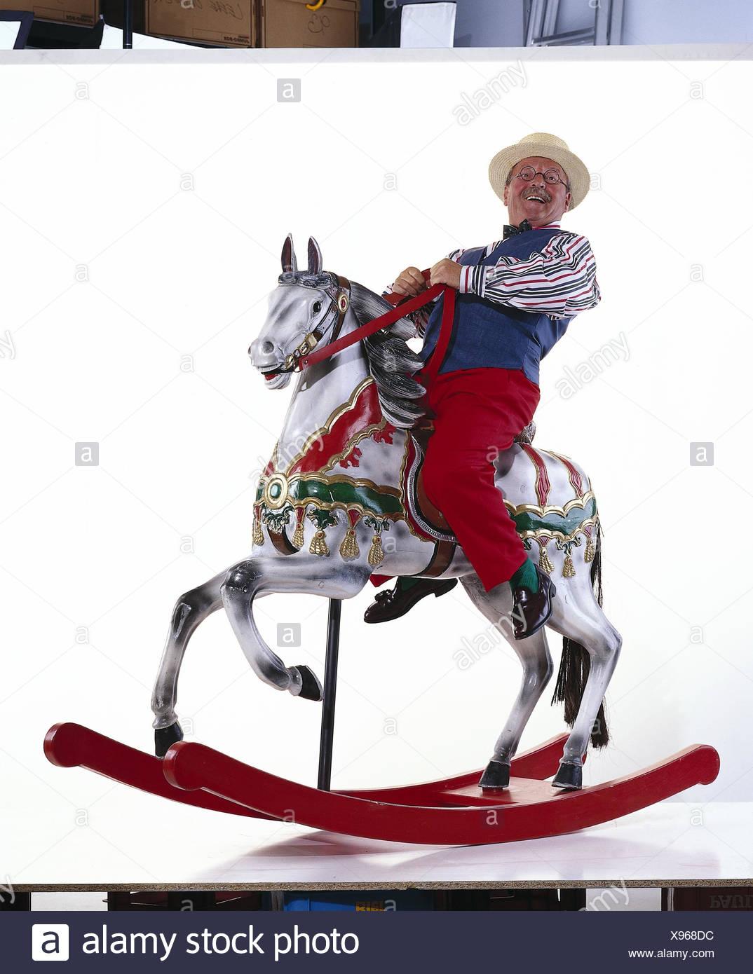 Les cadres supérieurs, de soins, de cheval à bascule, studio mb 131 A4 Photo Stock