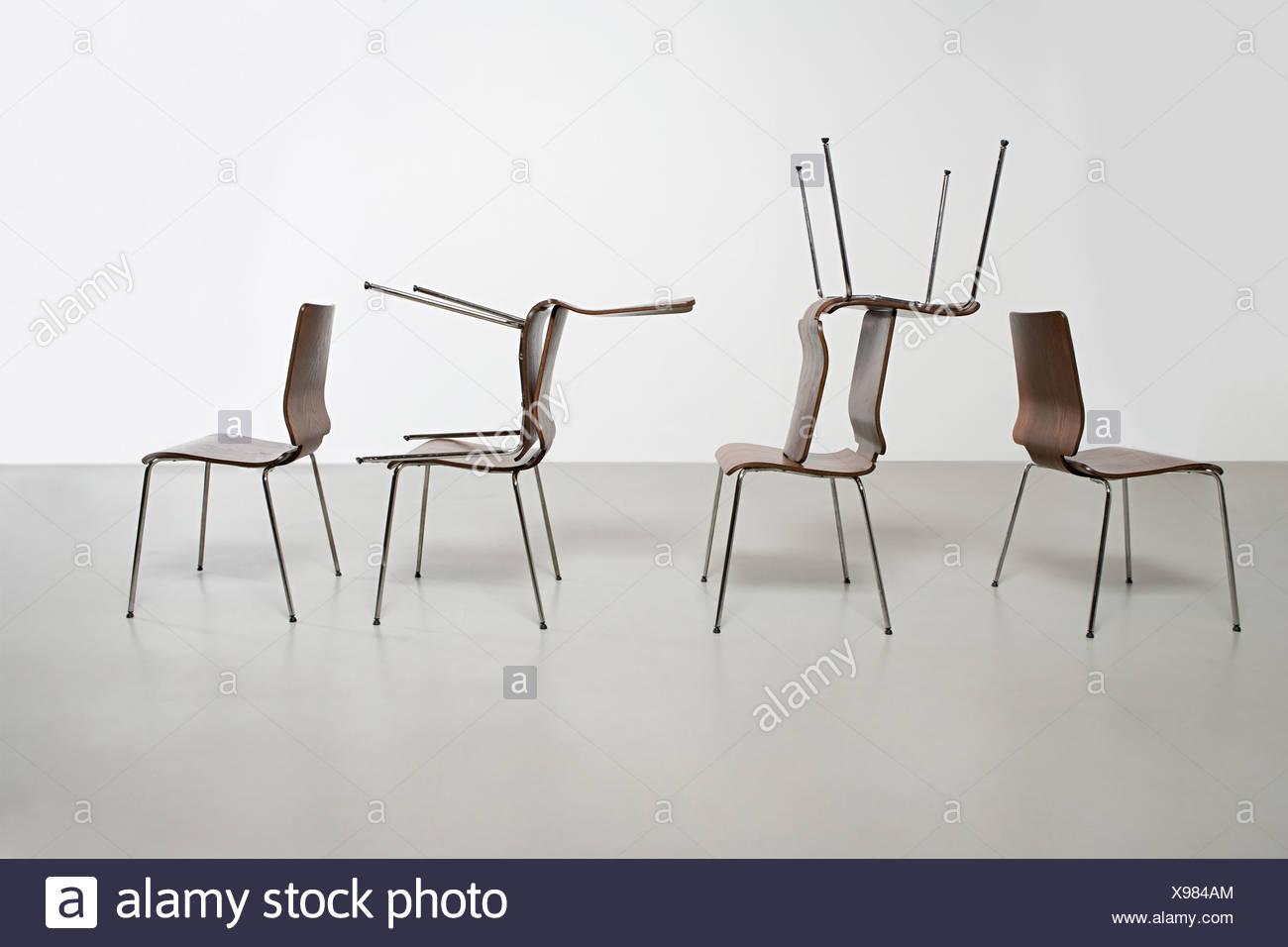 Dans l'arrangement des chaises Photo Stock