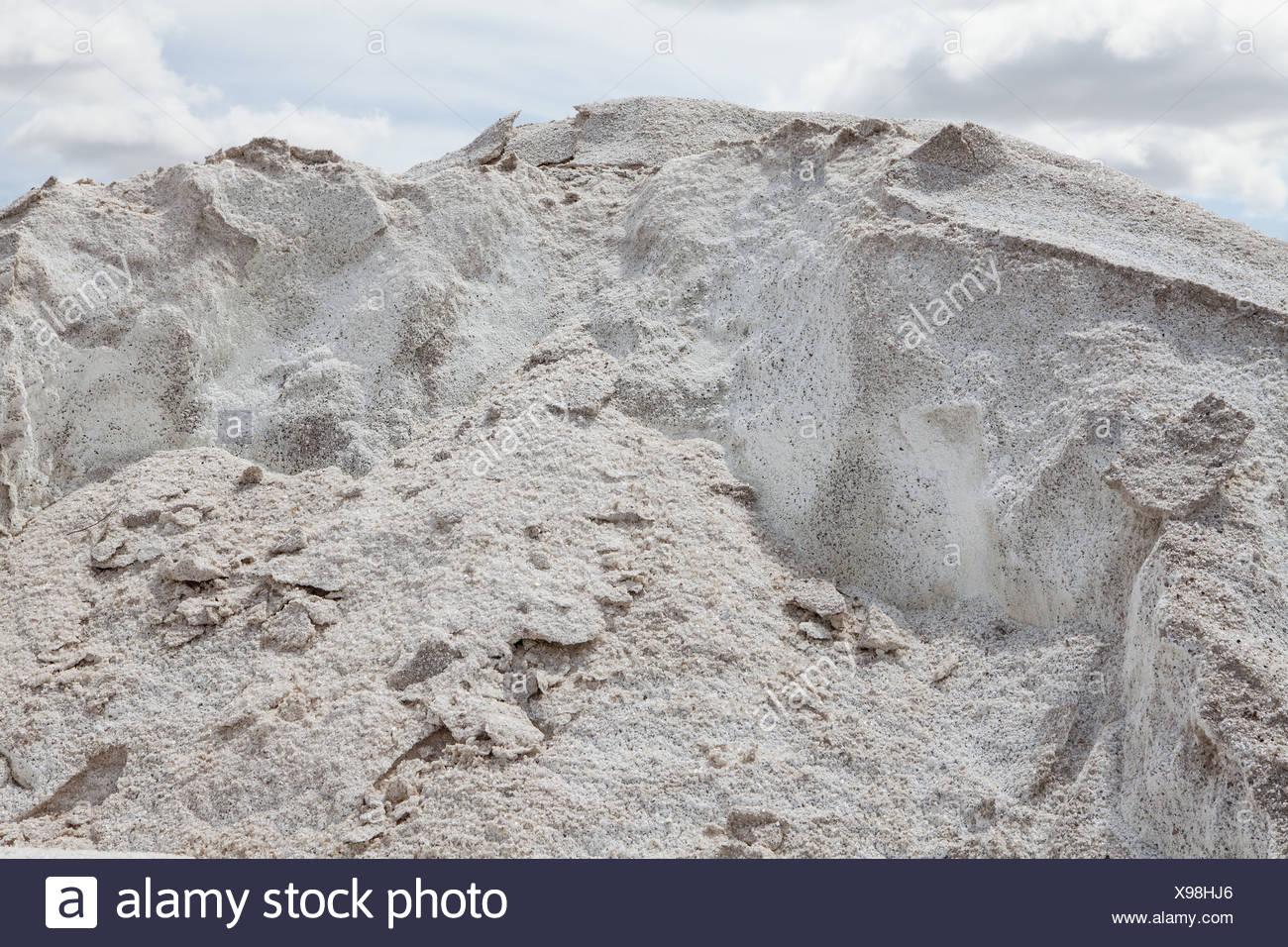 Washington USA Tas de sel utilisé pour l'entretien des routes Banque D'Images