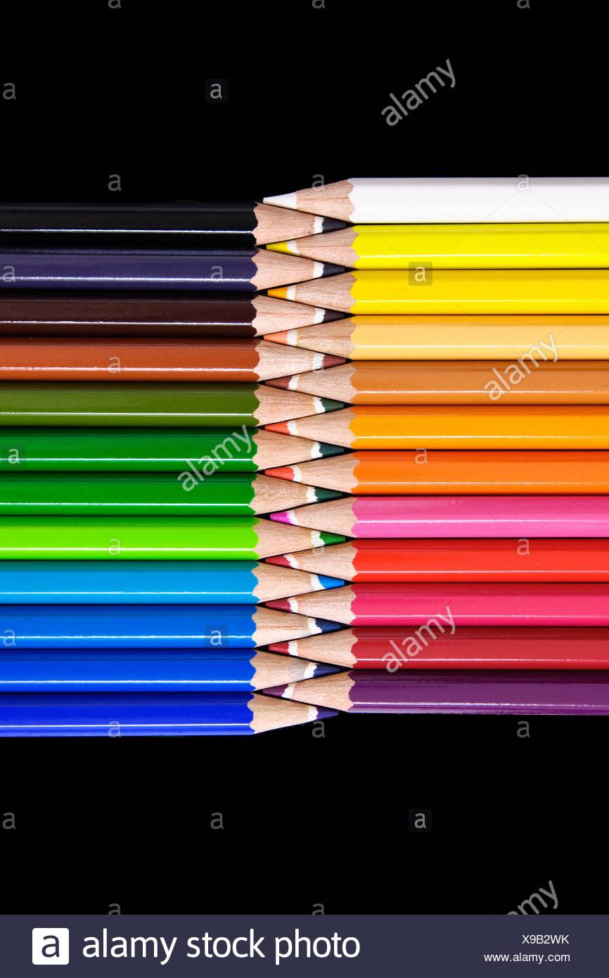 Papeterie crayons de couleurs Photo Stock