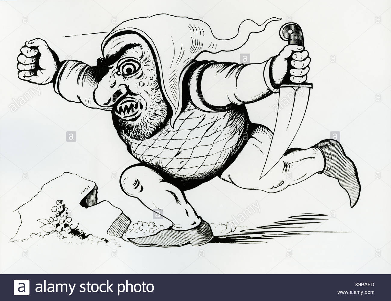 L Ogre Dessin Par Le Comte Franz Pocci 1807 1876 Photo Stock Alamy