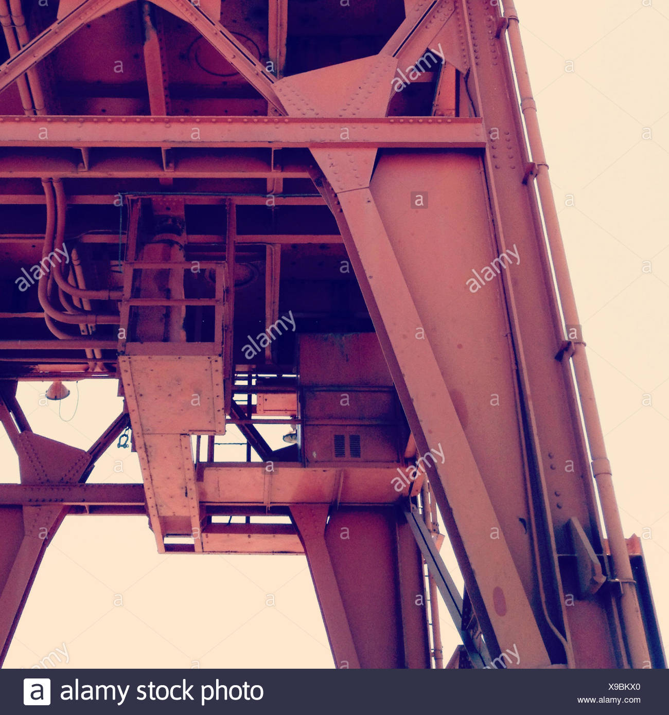 États-unis, Californie, Vallejo, Mare Island, vue de grue industrielle Photo Stock