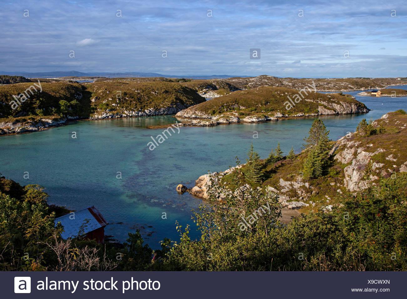 Paysage de fjord, la Norvège, la Hitra Photo Stock