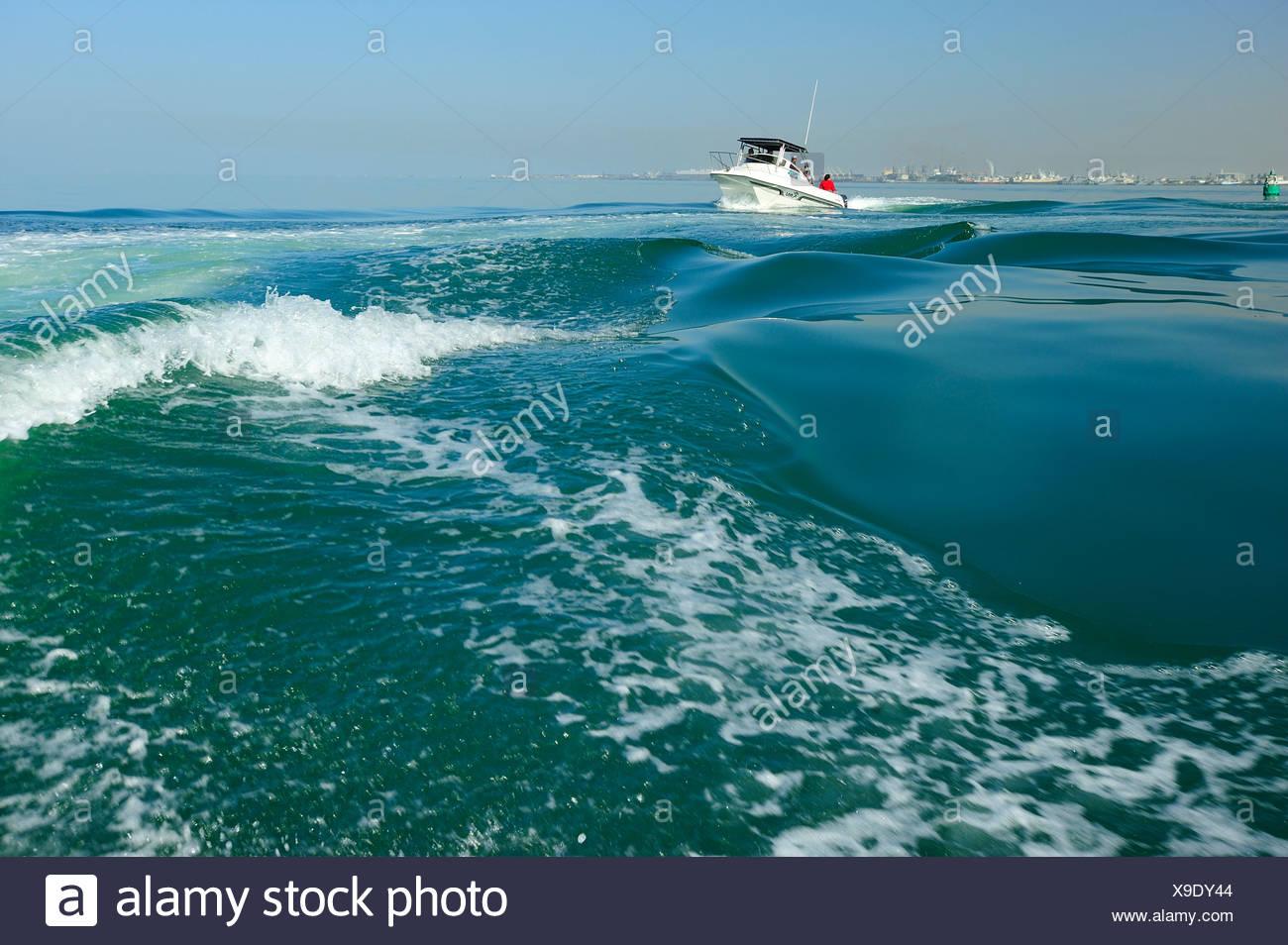 L'Afrique, la Namibie, bateau, mer, vagues, Photo Stock
