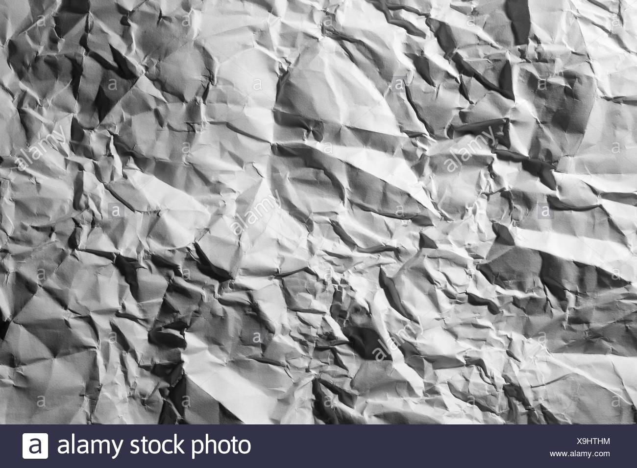 papier froissé Photo Stock