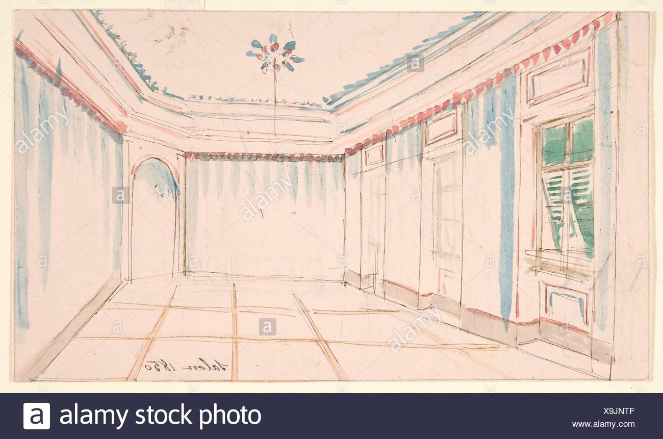 Dessin D Un Interieur Salon De Coiffure Artiste Anonymous Le