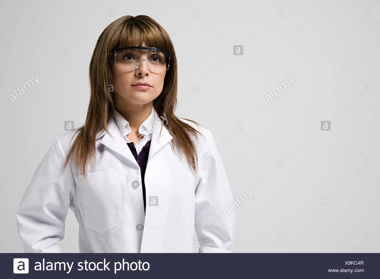 Portrait d'un scientifique Banque D'Images
