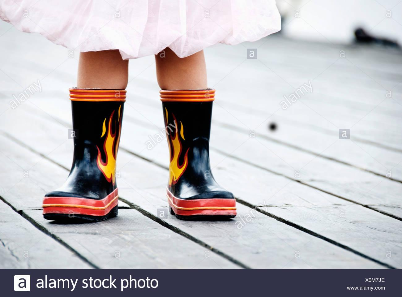 Cool des bottes en caoutchouc Photo Stock