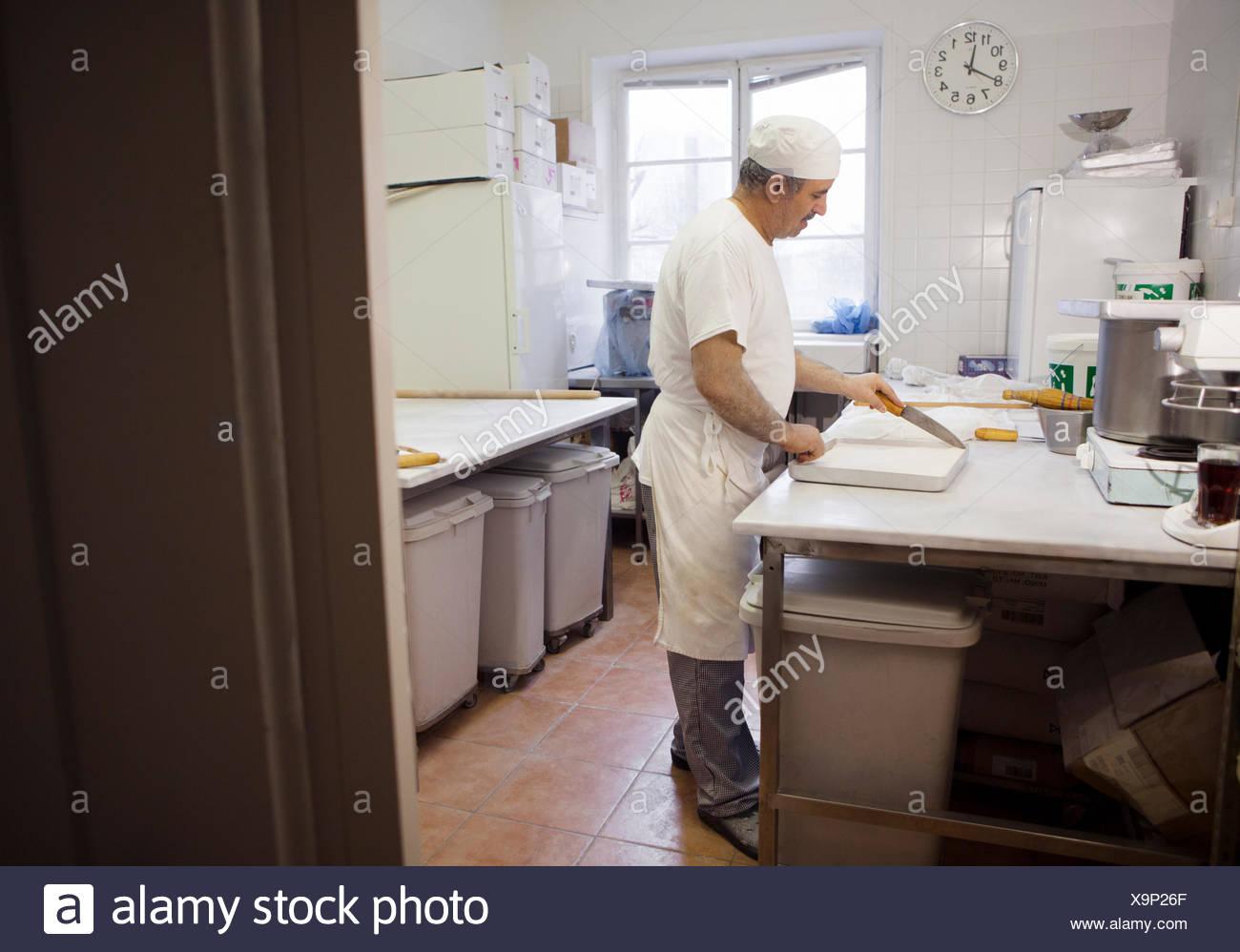 Chef baking baklava Photo Stock