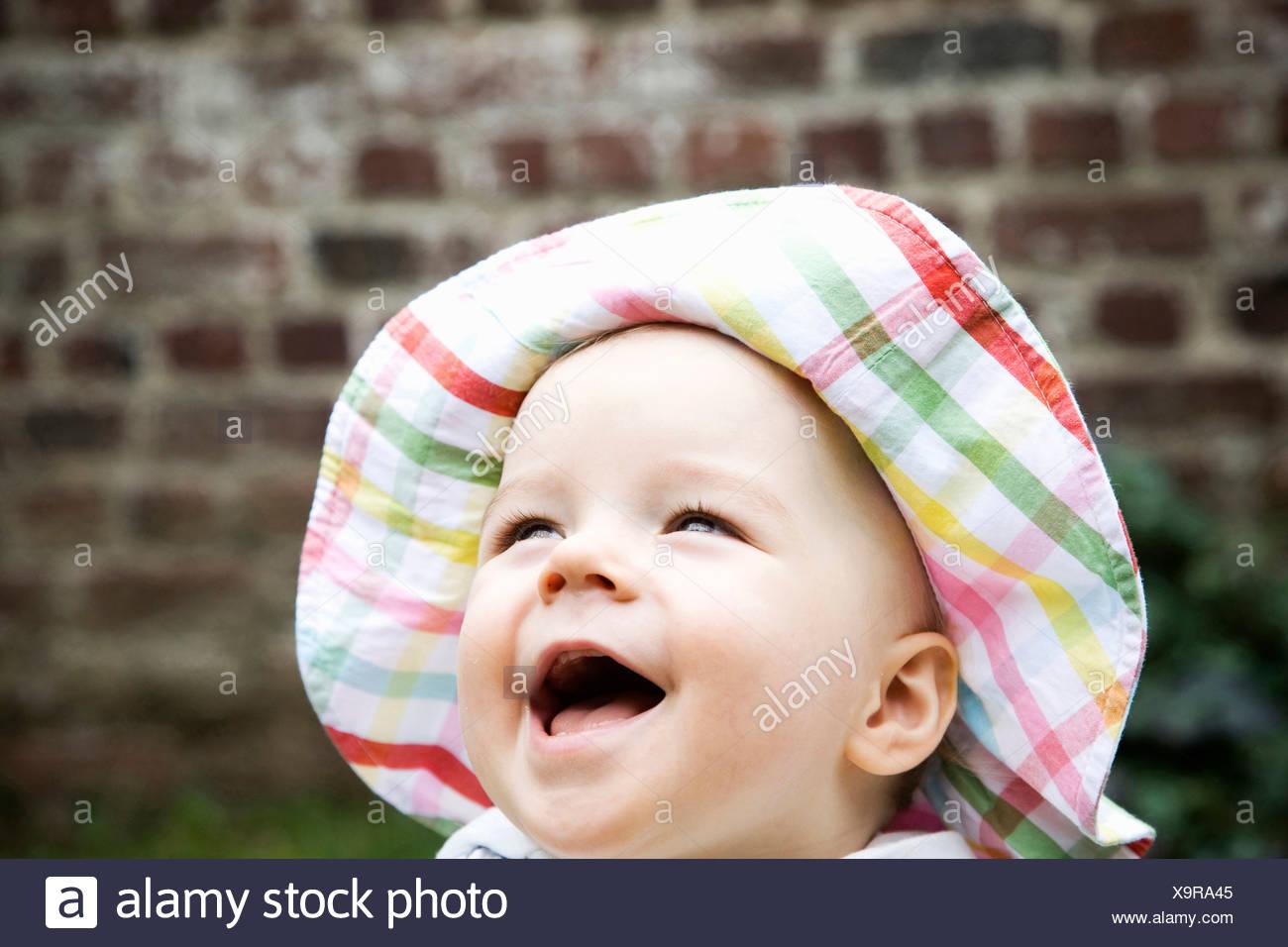 rire de bébé Photo Stock