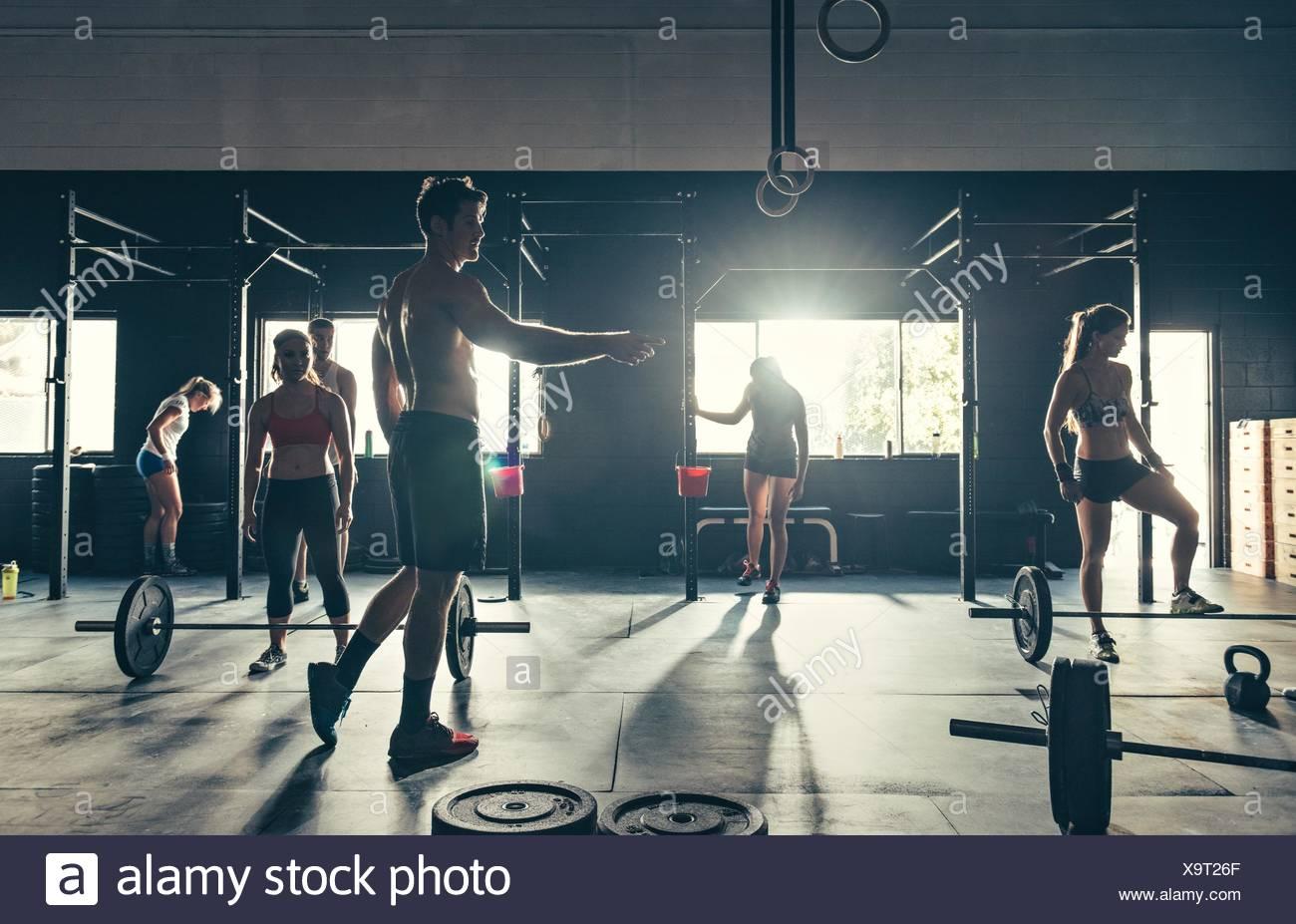 La préparation de l'équipe de sport pour la formation Photo Stock