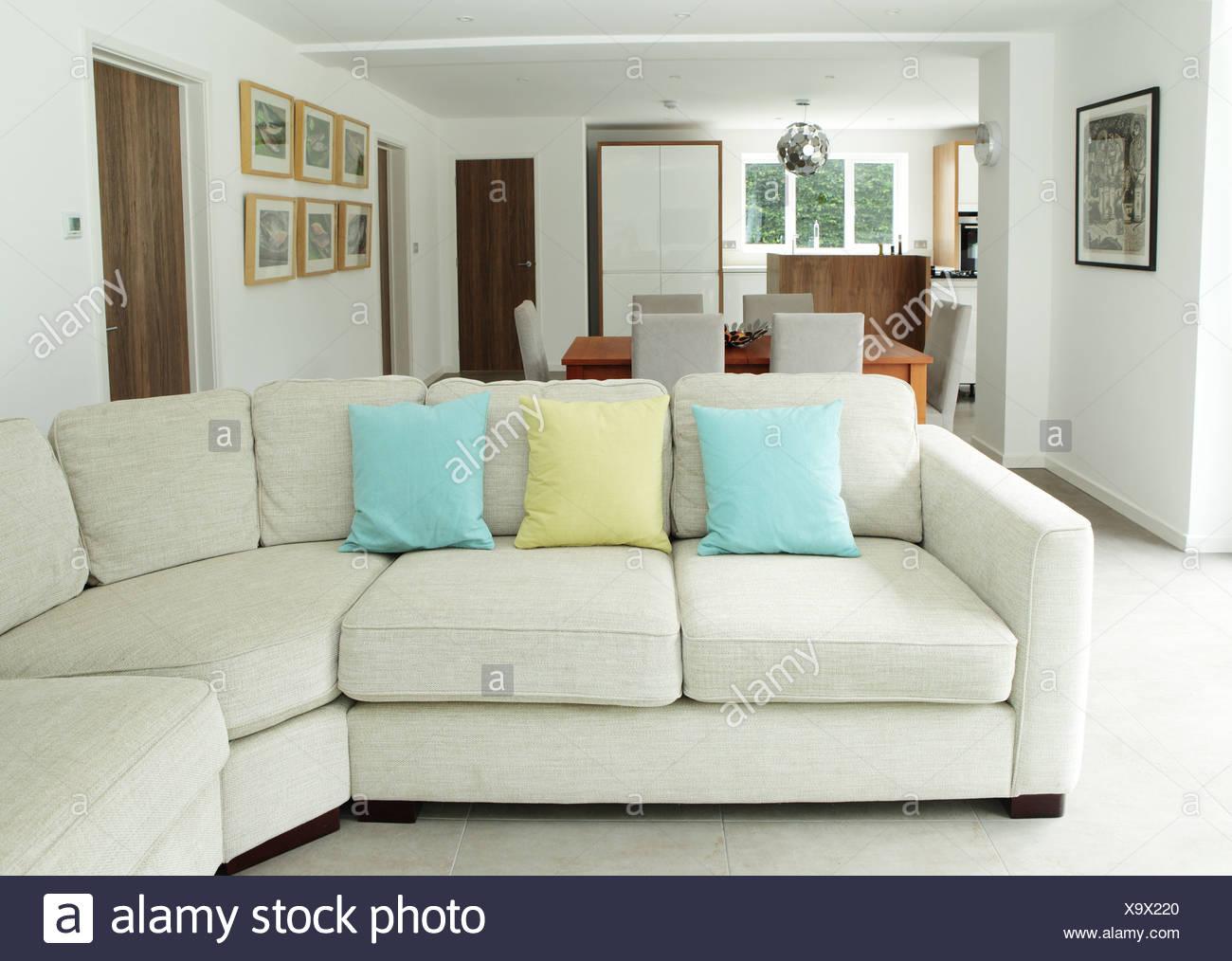 Canapé dans le séjour Photo Stock