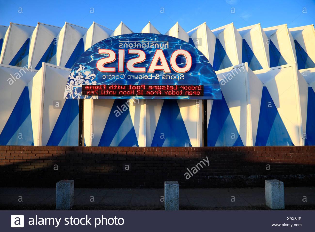 Hunstanton, Norfolk, l'Oasis Centre de sports et de loisirs, centre, Angleterre Photo Stock