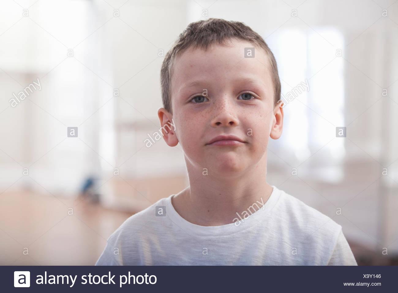 Portrait of boy in ballet school Photo Stock