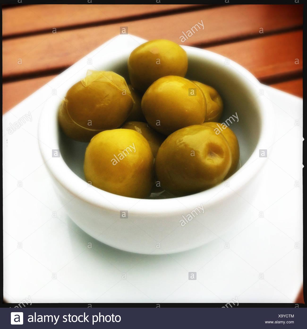La Galice, Espagne Olives Photo Stock