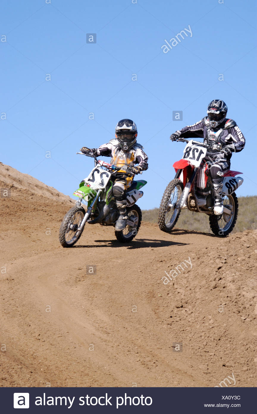 Moto cross action motor sport moto Moto Sports course Photo Stock