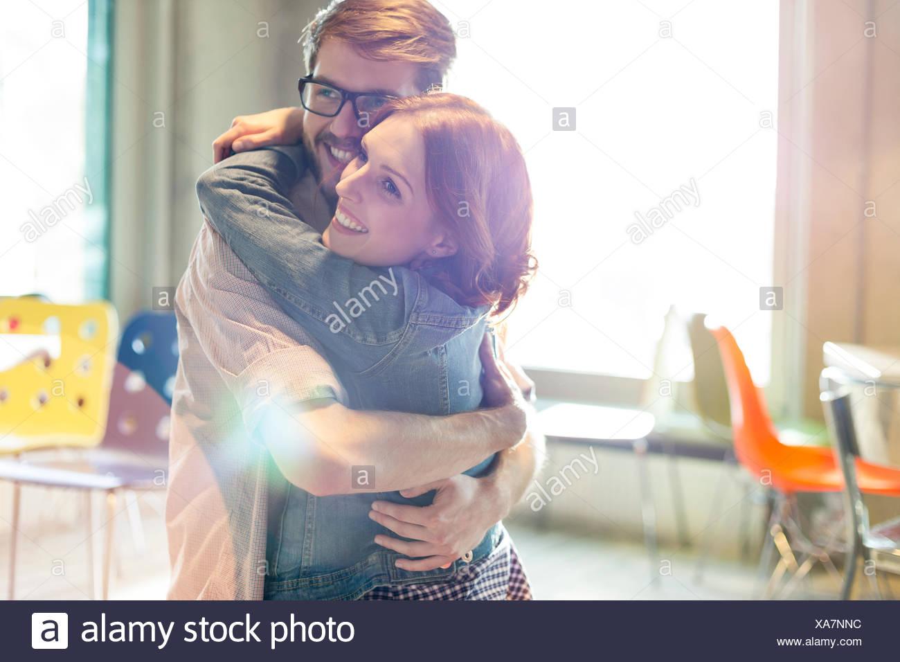 Couple hétérosexuel, ensoleillée Photo Stock