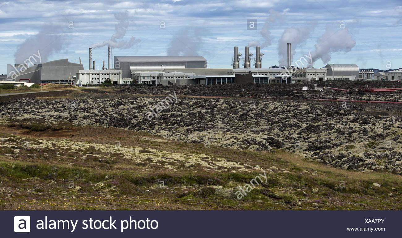 L'énergie géothermique en Islande Station Photo Stock